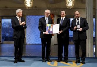 Cerimonia Nobel per la pace all'Europa