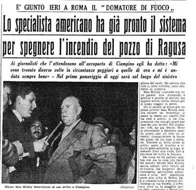 Il domatore di fuoco, La Sicilia, 10 Novembre 1955