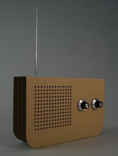 radio di cartone