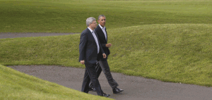 G8 Irlanda - Obama e Stephen Harper, Primo Ministro canadese