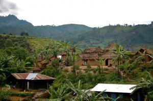 Repubblica del Congo - villaggio, sud kivu