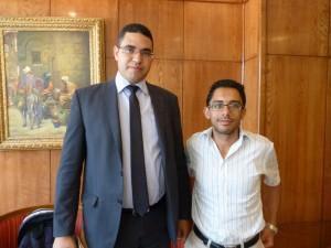 Souhaib Bahril, avvocato di Amina, e Mohamed Amine Jelassi, della associazione per le minoranze