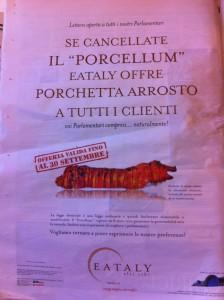 Eataly - porchetta Porcellum