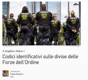 Codici identificativi forze dell'ordine
