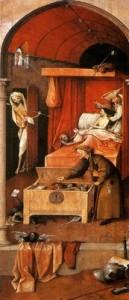 Hieronymus Bosch (1494 ca), Morte di un avaro