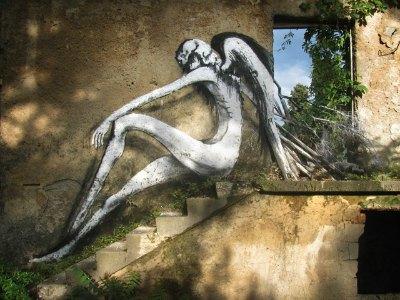 """Angel"" di Ale Senso al Street art Festival di Mostar (Bosnia Erzegovina)"
