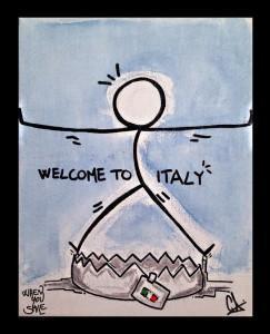 """""""Welcome to Italy"""" di Piji secondo Graziano Fabrizi"""