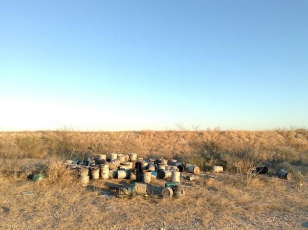 Allende - Barili usati come forni crematori