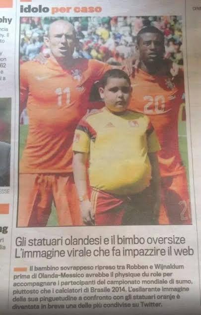 Mondiali 2014: quando ad essere deriso è un bambino
