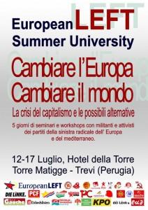 Università estiva della sinistra europea